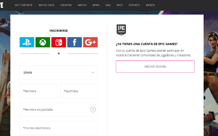 FortniteDescarga